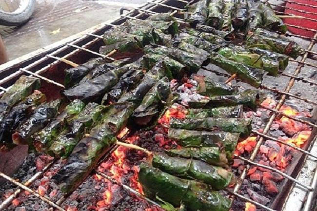Thịt trâu cuốn lá lốt